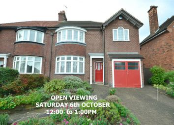 Thumbnail 4 bed semi-detached house for sale in Kingsway Road, Leicester