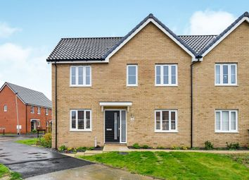 Thumbnail 3 bed end terrace house for sale in Natterers Road, Hethersett, Norwich