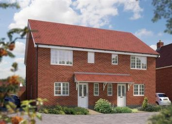 Thumbnail 3 bed semi-detached house for sale in Off Silfield Road, Wymondham, Norfolk