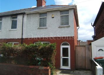 Thumbnail 2 bed semi-detached house to rent in Marshfield Street, Newport, Gwent.
