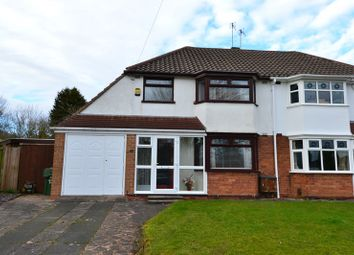 Thumbnail 3 bed semi-detached house for sale in Grange Crescent, Rubery, Birmingham