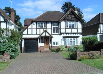Thumbnail 4 bed detached house for sale in Woodcote Close, Epsom