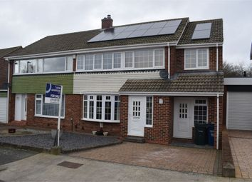 Thumbnail 4 bed semi-detached house for sale in Bracknell Gardens, Newcastle Upon Tyne, Tyne And Wear