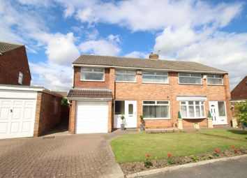 Thumbnail 4 bed semi-detached house for sale in Runswick Avenue, Middlesbrough