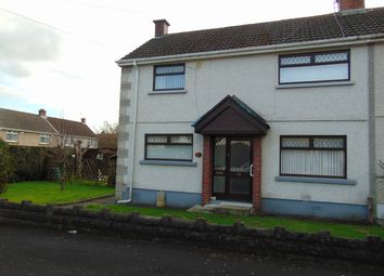 Thumbnail 2 bed semi-detached house for sale in Pen Y Wern, Llanelli