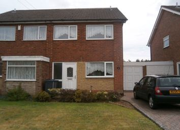 Thumbnail 3 bed semi-detached house to rent in The Glade, Sheldon, Birmingham