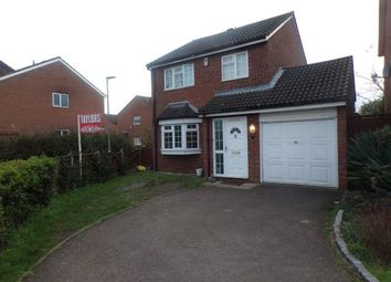 Thumbnail 3 bed detached house for sale in Brampton Close, Bedford, Bedfordshire, .