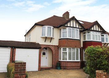 Thumbnail 3 bed semi-detached house to rent in Ravensfield Gardens, Ewell, Epsom