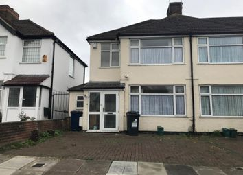 Thumbnail 3 bed semi-detached house to rent in Sandringham Road, Northolt