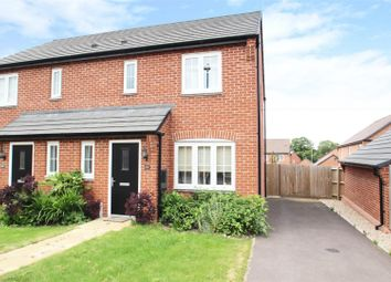 Thumbnail 3 bed semi-detached house for sale in Burrow Drive, Rothley, Leicester