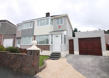 Thumbnail 3 bed semi-detached house for sale in Woodland Drive, Plympton, Plymouth