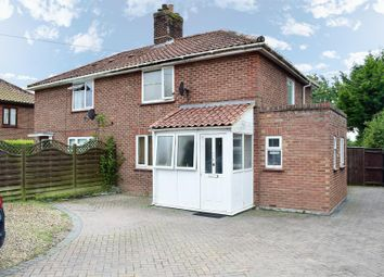 Thumbnail 3 bedroom semi-detached house for sale in Woodrow Lane, Aslacton, Norwich