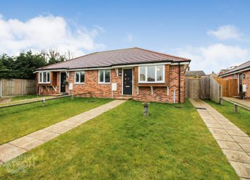 Thumbnail 2 bed semi-detached bungalow for sale in Wood End Close, Hales, Norwich