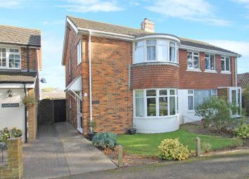 Thumbnail 3 bed semi-detached house for sale in Old Manor Road, Rustington, West Sussex