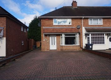 Thumbnail 2 bedroom end terrace house for sale in Gilwell Road, Shard End, Birmingham