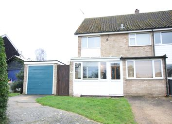 Thumbnail 3 bedroom semi-detached house for sale in Watering Close, Lower Somersham, Ipswich, Suffolk