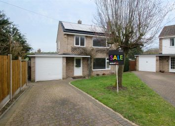 Thumbnail 3 bed detached house for sale in Vicarage Close, Costessey, Norwich