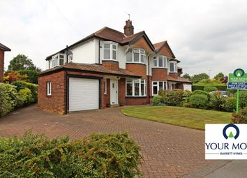 Thumbnail 4 bed semi-detached house for sale in Sandhill Crescent, Alwoodley, Leeds