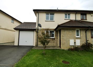 Thumbnail 3 bed semi-detached house to rent in Tredinnick Wood Close, Helston