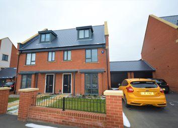 Thumbnail 4 bed semi-detached house for sale in Aldridge Road, Cheriton, Folkestone