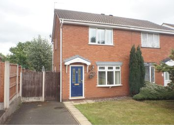 Thumbnail 2 bed semi-detached house for sale in Wheatlands Close, Cannock