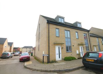 Thumbnail 4 bed semi-detached house to rent in Waterland, St Neots
