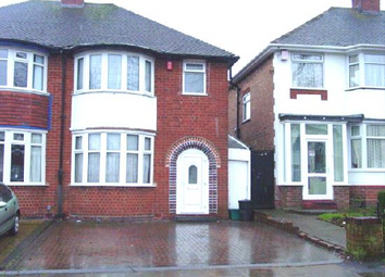 Thumbnail 3 bed semi-detached house to rent in Glendower Road, Birmingham