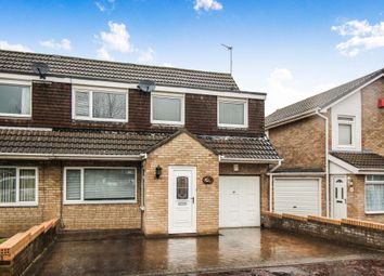 Thumbnail 4 bedroom semi-detached house for sale in Yeadon Court, Newcastle Upon Tyne