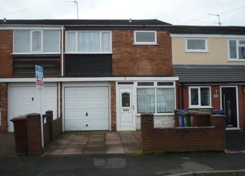 Thumbnail 3 bed terraced house to rent in Chalfont Avenue, Cannock