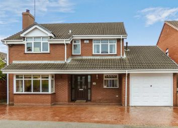Thumbnail 4 bed detached house for sale in Chaplain Road, Cannock, Staffordshire