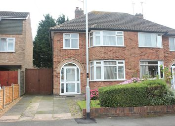 Thumbnail 3 bedroom semi-detached house for sale in Ruskington Drive, Wigston, Leicester