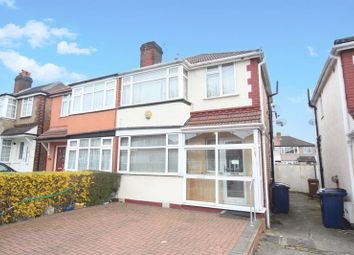 Thumbnail 3 bed semi-detached house to rent in Wood End Gardens, Northolt