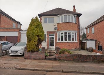 Thumbnail 4 bed detached house for sale in Dersingham Road, Leicester