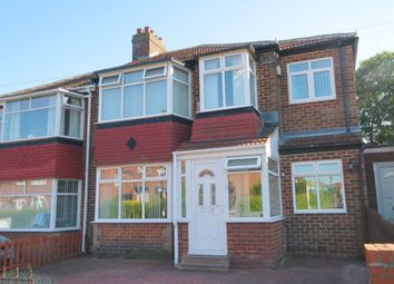 Thumbnail 4 bed semi-detached house for sale in Western Avenue, West Denton, Newcastle Upon Tyne