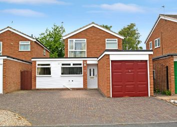 Thumbnail 3 bed detached house for sale in Bideford Close, Wigston, Leicester