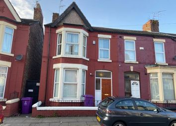 Thumbnail 4 bed end terrace house for sale in Alderson Road, Wavertree, Liverpool
