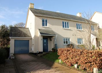 Thumbnail 3 bed semi-detached house for sale in Caversham Close, Exeter