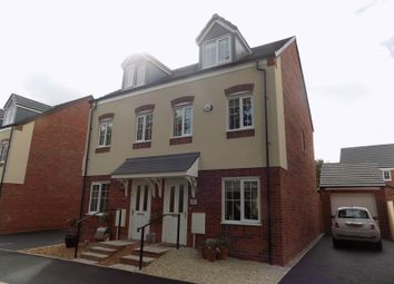 Thumbnail 3 bed town house to rent in Hathaway Close, Penkridge, Stafford