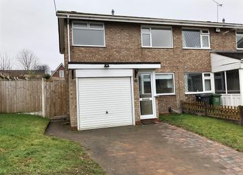 Thumbnail 3 bed semi-detached house to rent in Merton Close, Kidderminster