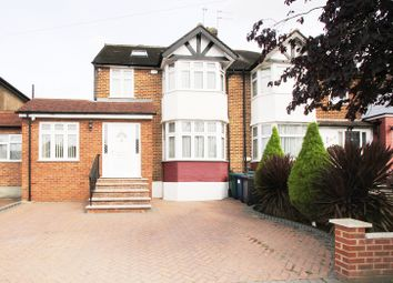 Thumbnail 4 bed semi-detached house for sale in Northolm, Edgware, Greater London.