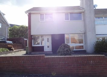 Thumbnail 3 bed semi-detached house to rent in Llangorse Road, Aberdare, Rhondda Cynon Taf