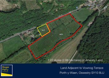 Thumbnail Land for sale in Vounog Terrace, Porth-Y-Waen, Oswestry