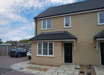 Thumbnail 3 bedroom semi-detached house to rent in Wickfield Close, Blundeston, Lowestoft