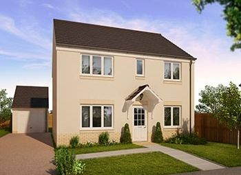 "Thumbnail 4 bedroom detached house for sale in ""The Thurso "" at Strath Brennig Road, Smithstone, Cumbernauld"