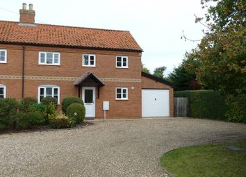 Thumbnail 3 bedroom semi-detached house to rent in High Green, Great Moulton, Norwich