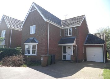 Thumbnail 4 bedroom detached house to rent in Wright's Close, North Walsham