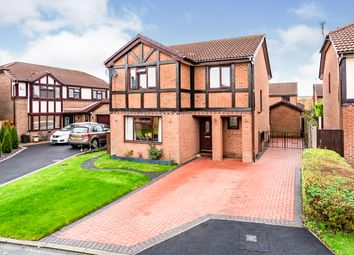 Thumbnail 4 bed detached house for sale in Garwood Close, Westbrook, Warrington