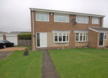 Thumbnail 3 bed semi-detached house for sale in Tewkesbury, Killingworth, Newcastle Upon Tyne