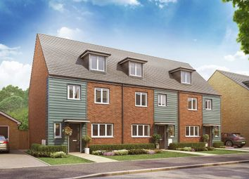 "Thumbnail 4 bed terraced house for sale in ""The Leicester"" at Christie Drive, Off Hinchingbrooke Park Road, Huntingdon"