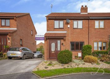 Thumbnail 3 bed semi-detached house for sale in Fairfield Close, Nether Langwith, Mansfield